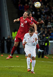KAZAN, RUSSIA - Thursday, November 5, 2015: Liverpool's Roberto Firmino in action against Rubin Kazan during the UEFA Europa League Group Stage Group B match at the Kazan Arena. (Pic by Oleg Nikishin/Propaganda)