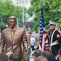 Inauguration of the new statue of Ronald Reagan on the square named Freedom in Budapest, Hungary. Wednesday, 29. June 2011. ATTILA VOLGYI