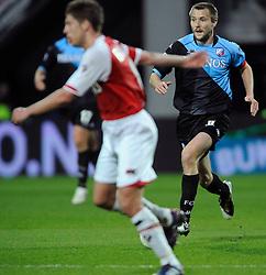 03-04-2010 VOETBAL: AZ - FC UTRECHT: ALKMAAR<br /> FC utrecht verliest met 2-0 van AZ / Michael Silberbauer<br /> ©2009-WWW.FOTOHOOGENDOORN.NL