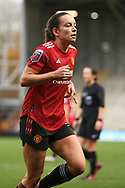 Manchester United midfielder Lucy Stainforth (37) Portrait half body during the FA Women's Super League match between Manchester United Women and Manchester City Women at Leigh Sports Village, Leigh, United Kingdom on 14 November 2020.