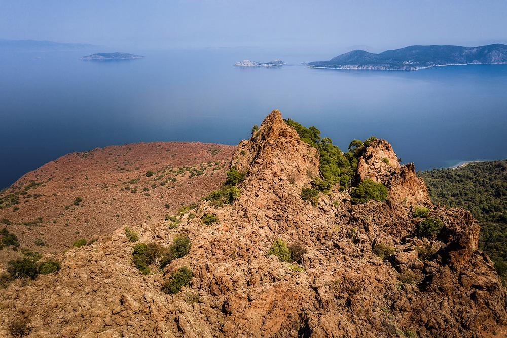 Methana Volcano at Methana peninsula, Greece