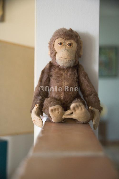 a little monkey doll sitting
