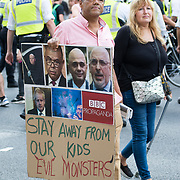 2019-09-18, Downing Street, London, UK. Hundreds Anti-vaxx take a stand against vaccinating our children and against vaccine passports march in centre London.