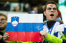 Supporters of Slovenia during the UEFA EURO 2016 Play-off for Final Tournament, Second leg between Slovenia and Ukraine, on November 17, 2015 in Stadium Ljudski vrt, Maribor, Slovenia. Photo by Vid Ponikvar / Sportida