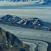 North America, United States, US, Northwest, Pacific Northwest, West, Alaska, Wrangell, Wrangell-St. Elias, Wrangell-St. Elias National Park, Wrangell-St. Elias NP. The vast Bagley Icefield in Wrangell-St. Elias National Park, Alaska.