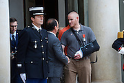 French President Hollande presents three Americans and a British grandfather who tackled Paris train terrorist with France's highest honour for bravery for preventing 'carnage'<br /> <br /> Three Americans and a British grandfather who prevented 'carnage' by tackling the French train terrorist have been awarded France's highest honour for bravery.<br /> U.S. Airman Spencer Stone, National Guardsman Alek Skarlatos, their friend Anthony Sadler and Briton Chris Norman were presented with the Legion d'Honneur at the Elysee Palace in Paris.<br /> French President Francois Hollande, who pinned on their medals, praised the men for taking action in the face of terrorism.<br /> The ceremony was held as the first heroic passenger who wrestled a machine gun from the terrorist was today revealed to be an American professor.<br /> <br /> Mark Moogalian, an academic at the University of Paris, was shot in the neck as he fought with Ayoub El-Khazzani on board the high-speed service from Amsterdam to Paris.<br /> The other four men then stepped in to overpower the attacker and tie him up.<br /> Speaking at the medal ceremony, Mr Hollande told Mr Stone and Mr Skarlatos that while they may have been soldiers on that day 'you were simply passengers. You behaved as soldiers but also as responsible men.'<br /> <br /> Photo shows: Spencer Stone<br /> ©Exclusivepix Media
