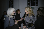 Lady Norwich and Princess Michael of Kent, Misadventure In the Middle East. Travels As a Tramp, Artist and Spy by Henry Hemming. Book launch and exhibition. Paradise Row. London. E2.  -DO NOT ARCHIVE-© Copyright Photograph by Dafydd Jones. 248 Clapham Rd. London SW9 0PZ. Tel 0207 820 0771. www.dafjones.com.