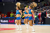 Real Madrid and Crvena Zvezda Telekom during Euroligue Basketball at Barclaycard Center in Madrid, October 22, 2015<br /> Real Madrid Cheerleader.<br /> (ALTERPHOTOS/BorjaB.Hojas)