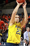 CHARLOTTESVILLE, VA- NOVEMBER 29: Josh Bartelstein #20 of the Michigan Wolverines during the game on November 29, 2011 at the John Paul Jones Arena in Charlottesville, Virginia. Virginia defeated Michigan 70-58. (Photo by Andrew Shurtleff/Getty Images) *** Local Caption *** Josh Bartelstein