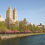 The landmark El Dorado building on Central Park West in Manhattan, overlooking the Central Park Reservoir