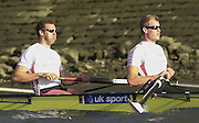 Photo. © Peter Spurrier/Intersport Images.13/03/2004  - Rowing -Cambridge Blue Boat v Leander.Leander's stern pair, Rick Dunn [right] and Toby Garbutt. [Mandatory Credit Peter Spurrier/ Intersport Images] Varsity: Boat Race [Mandatory Credit: Peter Spurrier/Intersport Images]