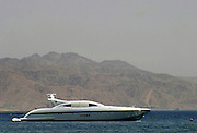 Sophisticated modern speed yacht, Eilat, Israel