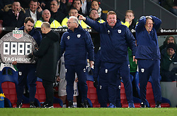 Cardiff City manager Neil Warnock gestures on the touchline during the Premier League match at Selhurst Park, London.