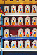 A carnival game to hit a clown.