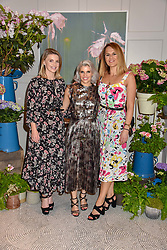 Left to right, Juliette Loughran, Pips Taylor and Susie Richardson at the Belmond Cadogan Hotel Grand Opening, Sloane Street, London England. 16 May 2019. <br /> <br /> ***For fees please contact us prior to publication***