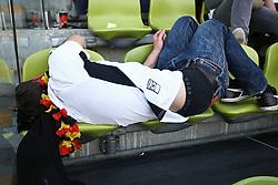 23.06.2010, Olympiapark, Muenchen, GER, FIFA Worldcup, Puplic Viewing Ghana vs Deutschland  im Bild Fan liegt auf den St¸hlen vor dem Spiel, EXPA Pictures © 2010, PhotoCredit: EXPA/ nph/  Straubmeier / SPORTIDA PHOTO AGENCY