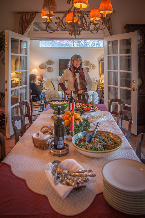 New Year's day celebration at the home of antique dealer, Pat Samoun in Calistoga, CA