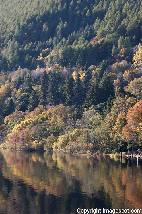 Loch Tay reflections, Kenmore, Highland Perthshire, autumn colours<br /> *ADD TO CART FOR LICENSING OPTIONS*
