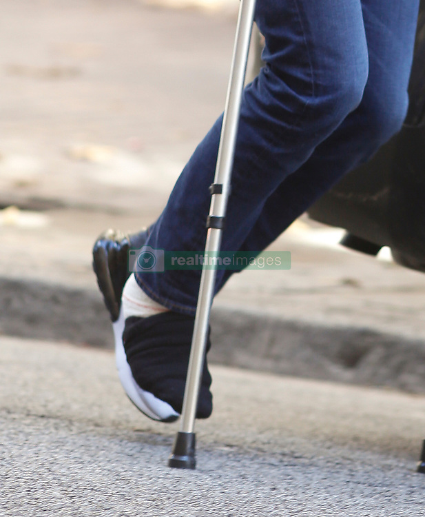 EXCLUSIVE: Rafael Nadal is seen walking with crutches and with his right foot bandaged after leaving the Mapfre Clinic of Tennis Medicine in Barcelona hours after being operated on the ankle and suspending his participation in the Masters Cup in London. The Spanish tennis player is accompanied by his father Sebastián Nadal and coach Carlos Moyá. Rafa Nadal boarded a todorreno to leave Barcelona and take refuge on the island of Mallorca on November 6, 2018 in Barcelona, Spain. 06 Nov 2018 Pictured: Rafael Nadal. Photo credit: Elkin Cabarcas / MEGA TheMegaAgency.com +1 888 505 6342
