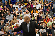 Hundreds of parents watch their children perform as Glen Ishiwata, retired Milpitas Unified School District Assistant Superintendent of Education Services, conducts during the Milpitas Unified School District's Tenth Annual Music Festival at Milpitas High School in Milpitas, California, on April 4, 2013. (Stan Olszewski/SOSKIphoto)