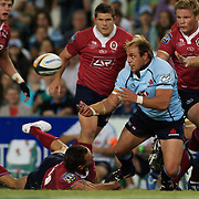 Phil Waugh in action during the Super14 match between the New South Wales Waratahs and Queensland Reds at the Sydney Football Stadium, Sydney, Australia on March 6, 2009. The Waratah's won the match 15-11. Photo by Tim Clayton.
