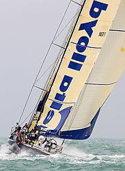 © Sander van der Borch.Alicante, 11 October 2008. Start of the Volvo Ocean Race. Team Delta Lloyd rounded the bottom mark in seventh position..