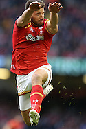 Rhys Webb of Wales charges down a kick. Under Armour 2016 series international rugby, Wales v Australia at the Principality Stadium in Cardiff , South Wales on Saturday 5th November 2016. pic by Andrew Orchard, Andrew Orchard sports photography
