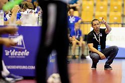 Sasa Praprotnik, head coach of Slovenia during handball match between National teams of Portugal and Slovenia in Semifinal of 2018 EHF U20 Men's European Championship, on July 27, 2018 in Arena Zlatorog, Celje, Slovenia. Photo by Urban Urbanc / Sportida