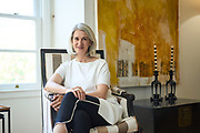 Antonia Cardone poses for a portrait at her home in San Francisco, California, on June 15, 2021. (Stan Olszewski for San Francisco Business Times)