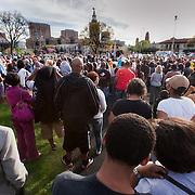 Rally in Kansas City, Missouri for Trayvon Martin on March 26, 2012.