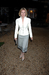 VISCOUNTESS LINLEY at the annual Cartier Chelsea Flower Show dinner held at the Chelsea Physic Garden, London on 21st May 2007.<br />