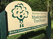 Mudcatcher Trail sign, Antietam Lake Park, Berks Co. Parks and Recreation, PA