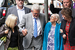 London, June 26th 2014. Entertainer Rolf Harris arrives at Southwark Crown Court with his daughter Bindi, left, his wife Alwen and niece Jenny, right, with the jury still out on the 12 charges he faces of indecent assault against 4 grils aged between 7 and 19.