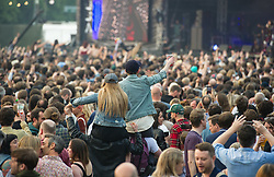 Crowd during Yeah Yeah Yeahs performance on stage on day 1 of All Points East festival in Victoria Park in London, UK. Picture date: Friday 25 May 2018. Photo credit: Katja Ogrin/ EMPICS Entertainment.