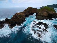 Rock arch near Punta Hermosa<br />Coiba Island<br />Coiba National Park