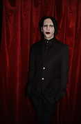 MARILYN MANSON, Party to celebrate the First issue of British Harper's Bazaar. Cirque, Leicester Sq. London. 16 February 2006. ONE TIME USE ONLY - DO NOT ARCHIVE  © Copyright Photograph by Dafydd Jones 66 Stockwell Park Rd. London SW9 0DA Tel 020 7733 0108 www.dafjones.com