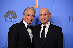 January 6, 2019 - Los Angeles, California, U.S. - Michael Douglas and Alan Arkin in the Press Room during the 76th Annual Golden Globe Awards at The Beverly Hilton Hotel. (Credit Image: © Kevin Sullivan via ZUMA Wire)
