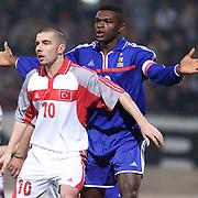 Turkish soccer  National team between France match. Player Mustafa IZZET(L) during their in AliSamiYen Stadium Mecidiyekoy/Istanbul/TURKEY .<br /> Photo by Aykut AKICI/TurkSporFoto