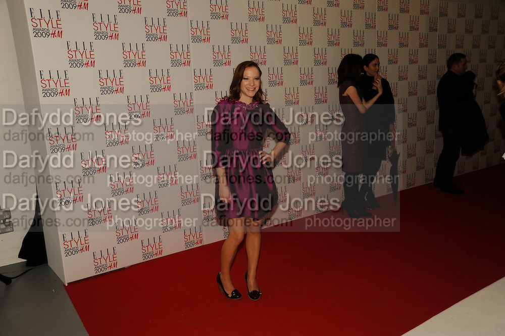 Nathalie Press, The Elle Style Awards 2009, The Big Sky Studios, Caledonian Road. London. February 9 2009.  *** Local Caption *** -DO NOT ARCHIVE -Copyright Photograph by Dafydd Jones. 248 Clapham Rd. London SW9 0PZ. Tel 0207 820 0771. www.dafjones.com<br /> Nathalie Press, The Elle Style Awards 2009, The Big Sky Studios, Caledonian Road. London. February 9 2009.