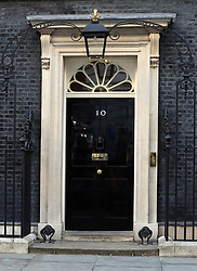 The door of 10 Downing Street, London, as Theresa May's future as Prime Minister and leader of the Conservatives was being openly questioned after her decision to hold a snap election disastrously backfired.