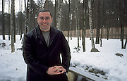 Moscow, Russia, 26/01/2002.&#xD;Mikhail Khordokovsky, CEO & Chairman of the giant Yukos oil company, at his home in a heavily guarded compound just outside Moscow.&#xD;<br />