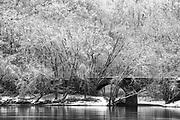 Stone Bridge over the Susquehanna in Winter, by Darren Elias Photography