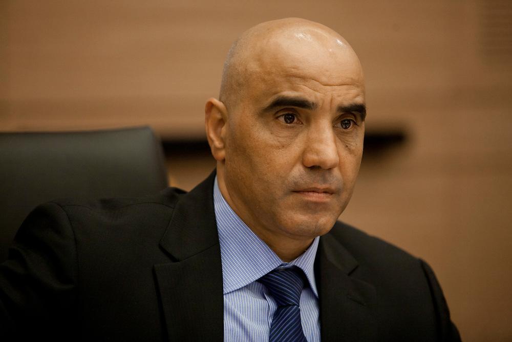 Israeli Druze lawmaker, Hamad Amar at the Knesset, Israel's parliament in Jerusalem, on November 24, 2011.