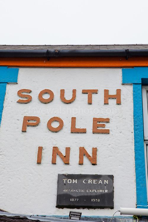 The South Pole Inn, pub owned by polar explorer Tom Crean, Annascaul, Dingle Peninsula, Co. Kerry, Ireland.