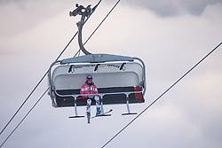 07.10.2013, Moelltaler Gletscher, Flattach, AUT, DSV Medientag, im Bild Maria Hoefl Riesch am Sessellift // Maria Hoefl Riesch chairlift during the media day of German Ski Federation DSV at Moelltaler glacier in Flattach, Austria on 2013/10/07. EXPA Pictures © 2013, PhotoCredit: EXPA/ Johann Groder