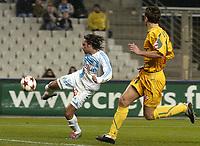 Fotball<br /> Frankrike 2004/05<br /> Olympique Marseille v Nantes<br /> 27. november 2004<br /> Foto: Digitalsport<br /> NORWAY ONLY <br /> GOAL FABRICE FIORESE (OM) / LOIC GUILLON (NAN)