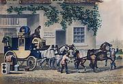 Victorian stage coach.