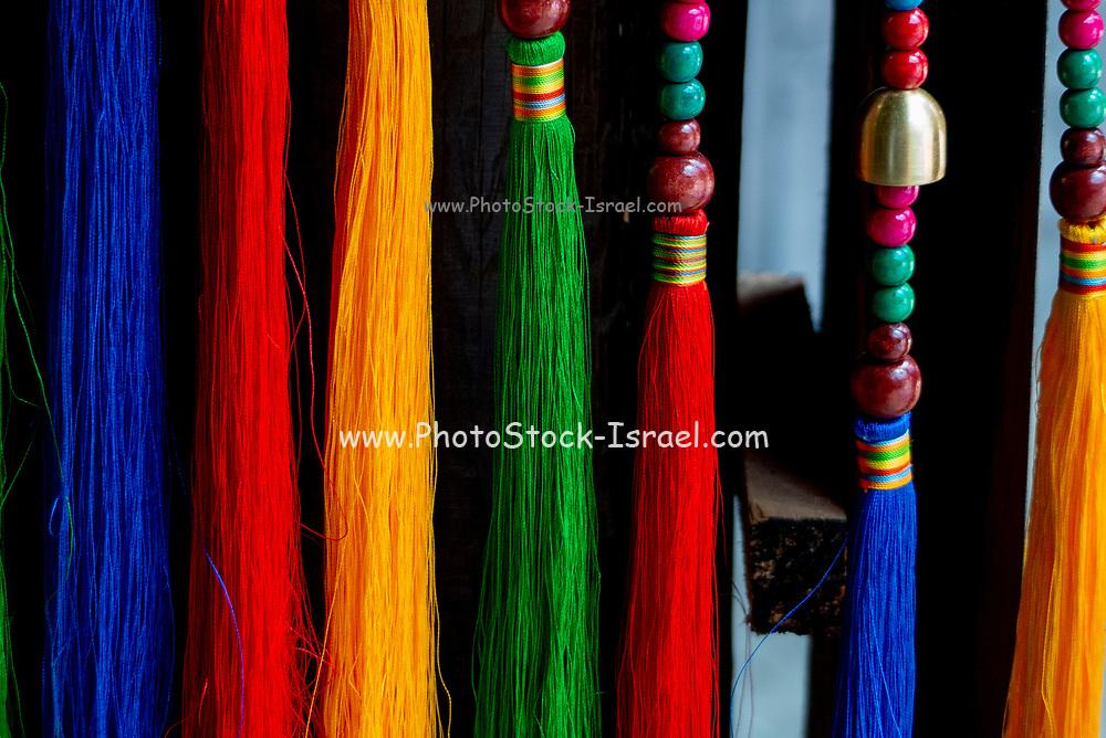 Typical Chinese batik Tie Dye processing, Zhoucheng, Yunnan, China