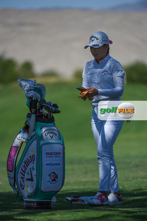 Yui Kawamoto (JPN) practices on the range during the preview of the 2020 ANA Inspiration, Mission Hills C.C., Rancho Mirage, California, USA. 9/9/2020.<br /> Picture: Golffile | Ken Murray<br /> <br /> All photo usage must carry mandatory copyright credit (© Golffile | Ken Murray)