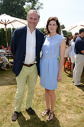 WILLIAM CASH and LADY LAURA CATHCART at the Cartier 'Style et Luxe' part of the Goodwood Festival of Speed, Goodwood House, West Sussex on 14th July 2013.
